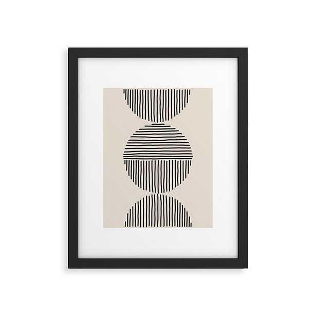 "Evening Lines by Urban Wild Studio - Modern Framed Art Print Black 18"" x 24"" - Wander Print Co."