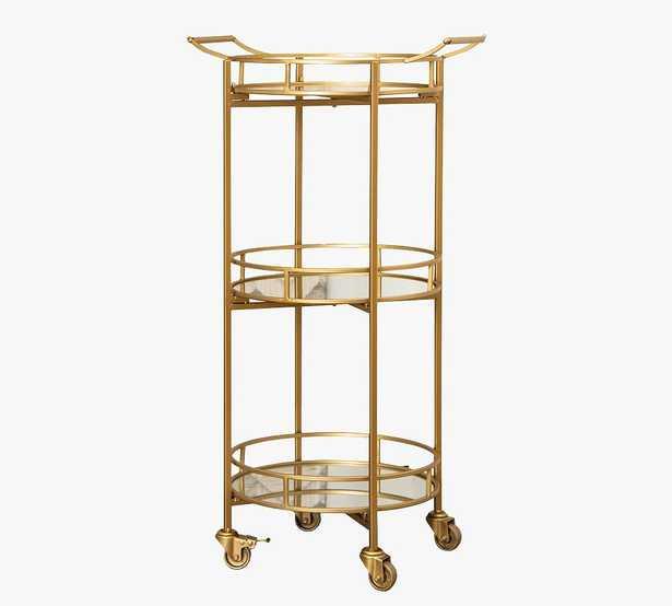 Jurupa Metal Bar Cart, Matte Gold - Pottery Barn