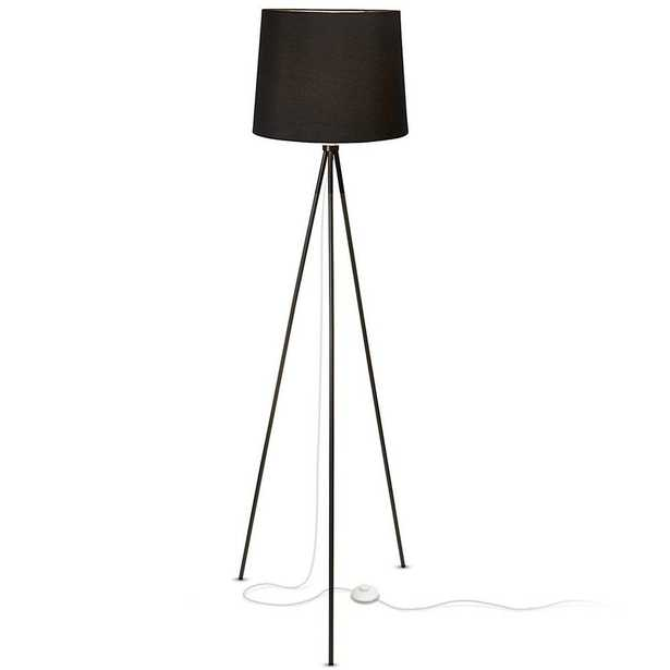 Newhouse Lighting 58 in. Black Tripod Floor Lamp With Black Lamp Shade and E26 Light Socket - Home Depot