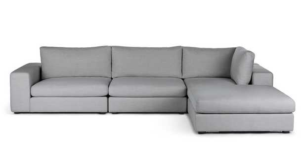 Beta Summit Gray Right Modular Sectional - Article
