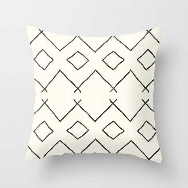 """Bath In Cream Couch Throw Pillow by Becky Bailey - Cover (18"""" x 18"""") with pillow insert -Outdoor Pillow - Society6"""
