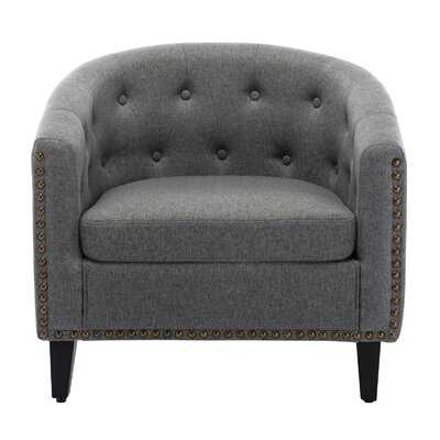 Pu Leather Tufted Barrel Chairtub Chair For Living Room Bedroom Club Chairs - Wayfair