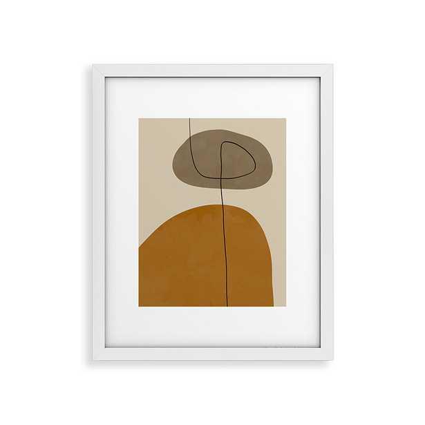 "Organic Abstract Shapesii by Alisa Galitsyna - Modern Framed Art Print White 24"" x 36"" - Haldin"
