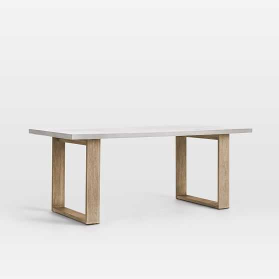 """We Concrete Dining Table 72"""" Rectangle Concrete Top W + Driftwood Dining Table Pack - West Elm"""