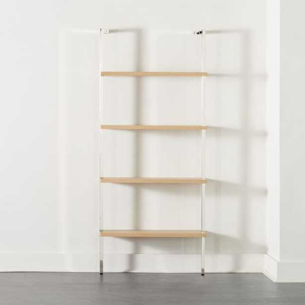 "Helix 70"" Bleached Oak Bookcase - CB2"