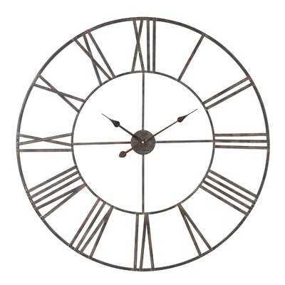 Oversized Brosnan Wall Clock - Birch Lane