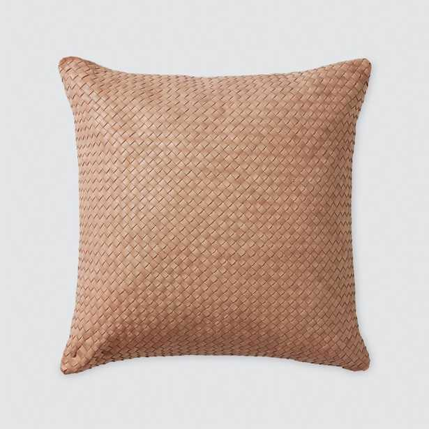Dhara Leather Square Pillow - 18 in. x 18 in. By The Citizenry - The Citizenry