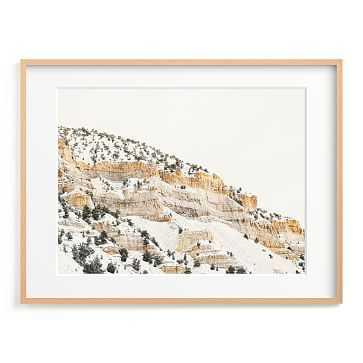 Minted Aurum 3, 40X30, Matted Framed Print, Natural Wood Frame - West Elm