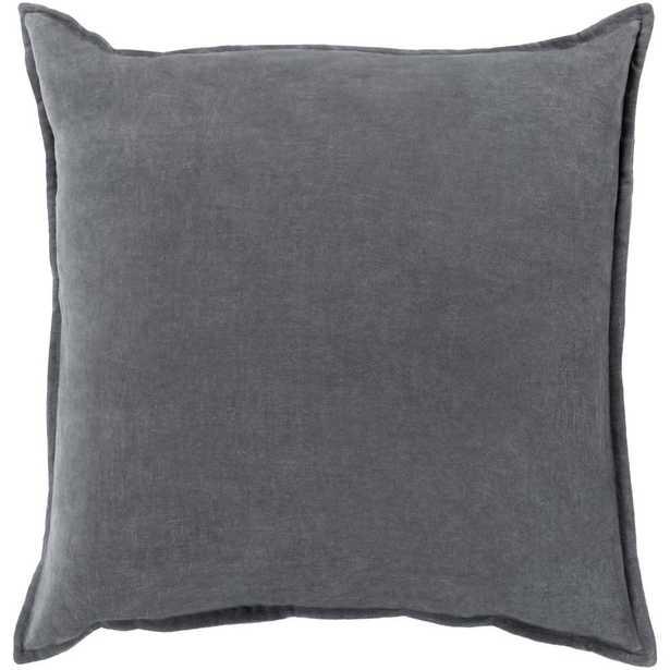 Velizh Poly Euro Pillow, Grey - Home Depot