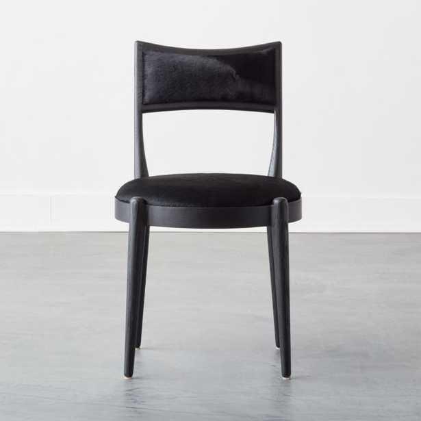 Kir Black Cowhide Dining Chair - CB2