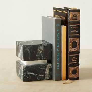 Stone Block Object, Block, Black Stone, Stone - West Elm