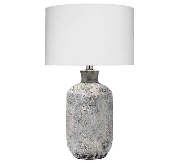 "Barstow Ceramic Table Lamp, Grey Textured Ceramic, 24.5"" - Pottery Barn"