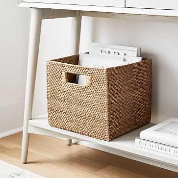 Modern Weave Storage Bin, Medium, Natural - West Elm