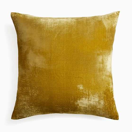 """Lush Velvet Pillow Cover, 24""""x24"""", Wasabi - West Elm"""