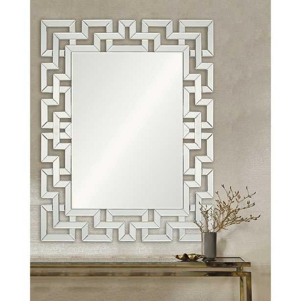 "Garance Intricate 39"" x 48"" Rectangular Wall Mirror - Style # 78C44 - Lamps Plus"