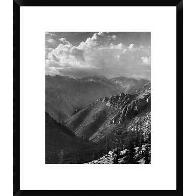 'Middle Fork at Kings River from South Fork of Cartridge Creek, Kings River Canyon, Proposed as a National Park, California, 1936' by Ansel Adams Framed Photographic Print - Wayfair