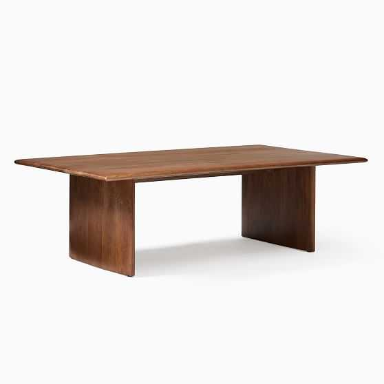 Anton Solid Wood Collection Burnt Wax XL Rectangle Coffee Table - West Elm