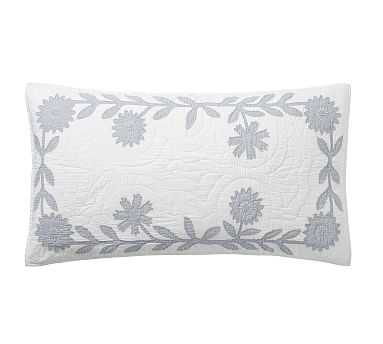 Lilo Cotton Handcrafted Shams, King Blue - Pottery Barn