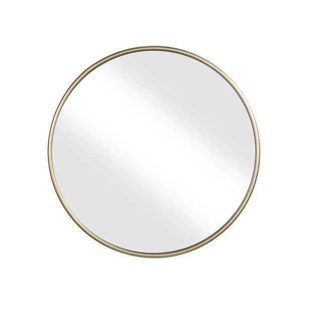 "Martin Svensson Home 30"" Gold Framed Round Wall Mirror - Home Depot"