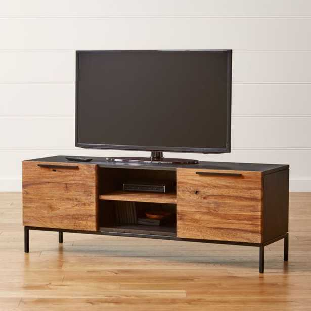 """Rigby Natural 55"""" Small Media Console with Base - Crate and Barrel"""