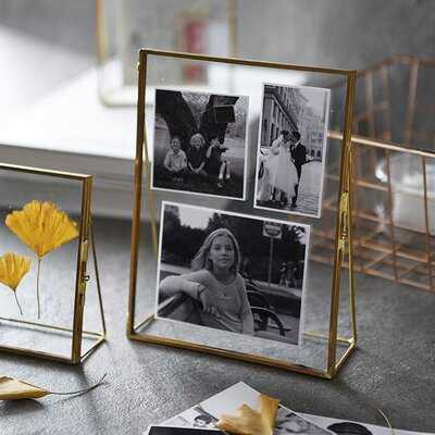 Rosie Glass Hinged Cover Tabletop Picture Frame - Birch Lane