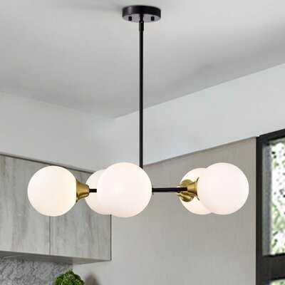 Caseville 5 - Light Sputnik Modern Linear Chandelier - Wayfair
