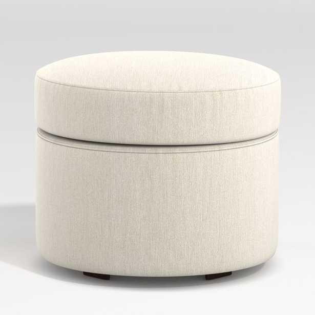 Infiniti Round Storage Ottoman - Crate and Barrel