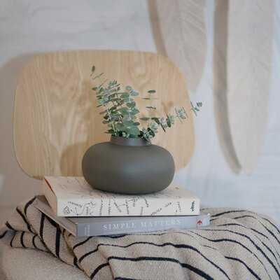 "Jazib Gray 3.75"" Metal Table Vase - Wayfair"