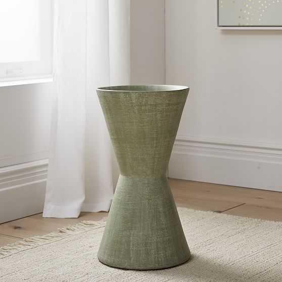 Thom Textured Floor Vase, Green, Large - West Elm