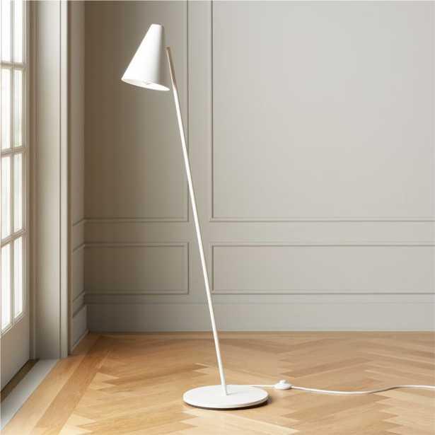 Task Matte White Floor Lamp - CB2