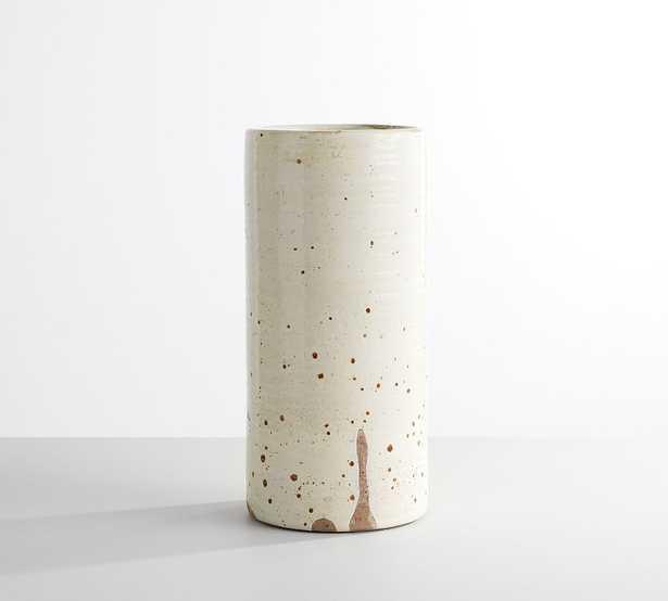 """Terra Cotta Speckled Vase, White, Large, 15""""H - Pottery Barn"""