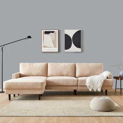 "Tellis 104"" Wide Reversible Modular Sofa and Chaise with Otoman - Wayfair"