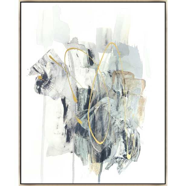 """Chelsea Art Studio 'Lost Conflict II' by Emma McCartney - Floater Frame Painting on Canvas Size: 51.5"""" H x 41.5"""" W x 1.5"""" D, Format: Image Gel Brush - Perigold"""
