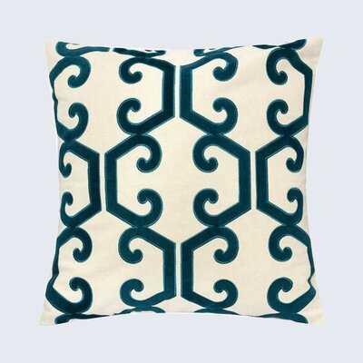 Theresa Applique Cotton Geometric Throw Pillow - Wayfair