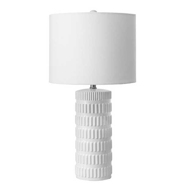 nuLOOM 25 in. White Franklin Ceramic Indoor Table Lamp - Home Depot