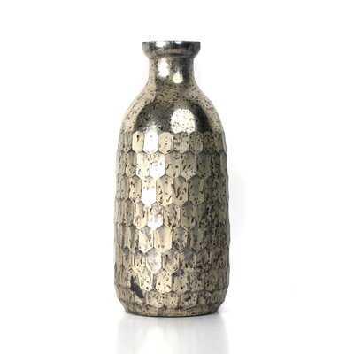 """Mckibbens Silver 9.25"""" Indoor/Outdoor Glass Table Vase - Wayfair"""