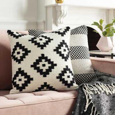 "Cragmont Wool Geometric 20"" Throw Pillow-Polyester/Polyfill - AllModern"