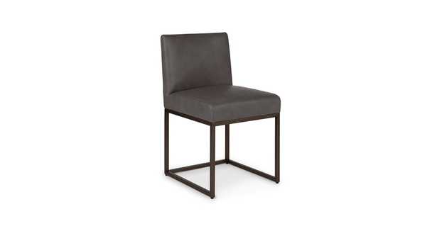 Oscuro Teres Charcoal Dining Chair (Pair) - Article