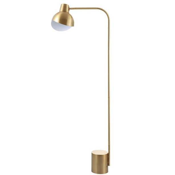 Safavieh Violetta 57.5 in. Brass Gold Floor Lamp - Home Depot