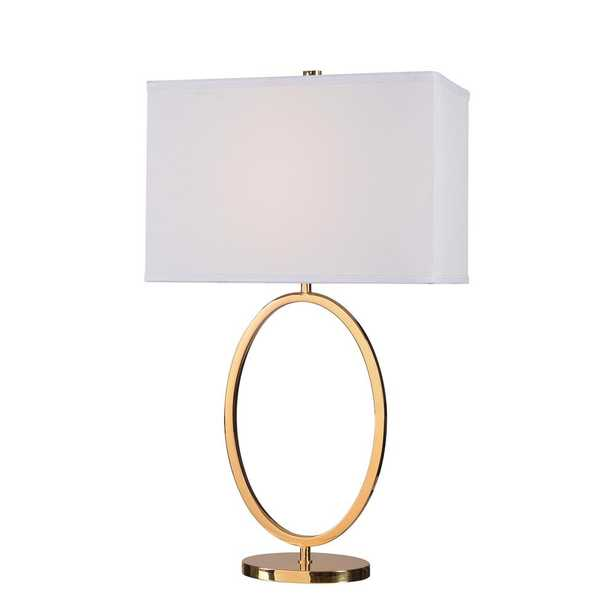Kenroy Home Oke 30.5 in. Table Lamp with White Shade - Home Depot