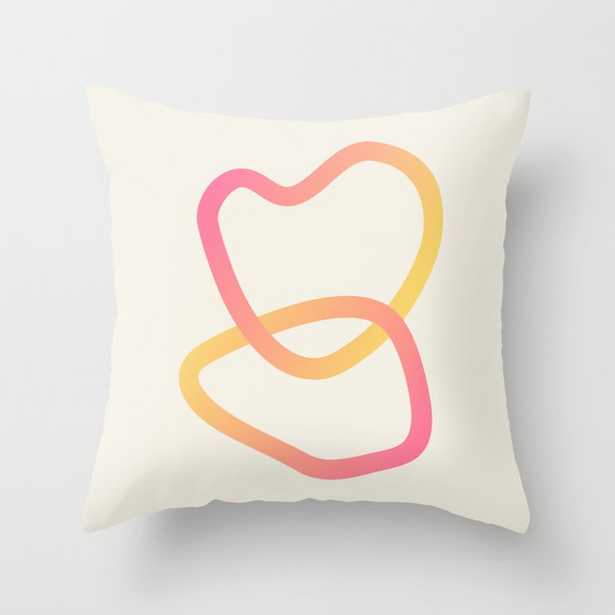 """Modern Abstract 01b Couch Throw Pillow by The Old Art Studio - Cover (16"""" x 16"""") with pillow insert - Indoor Pillow - Society6"""