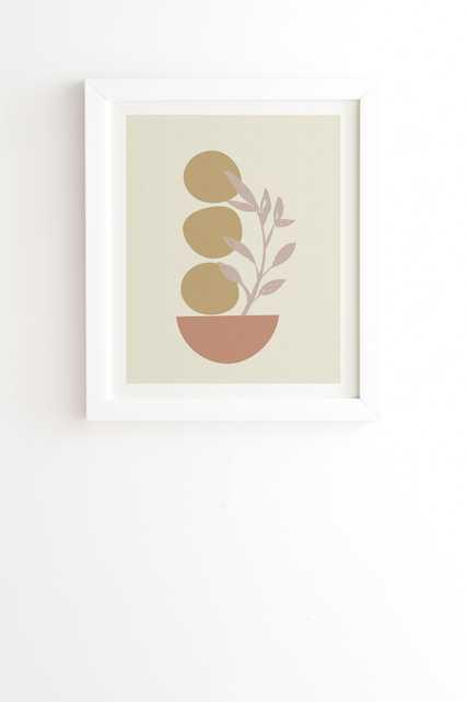 "Desert Botanicals And Organic by June Journal - Framed Wall Art Basic White 8"" x 9.5"" - Wander Print Co."