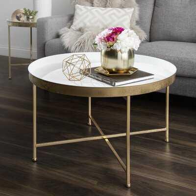 Marshfield Cross Legs Coffee Table - Wayfair