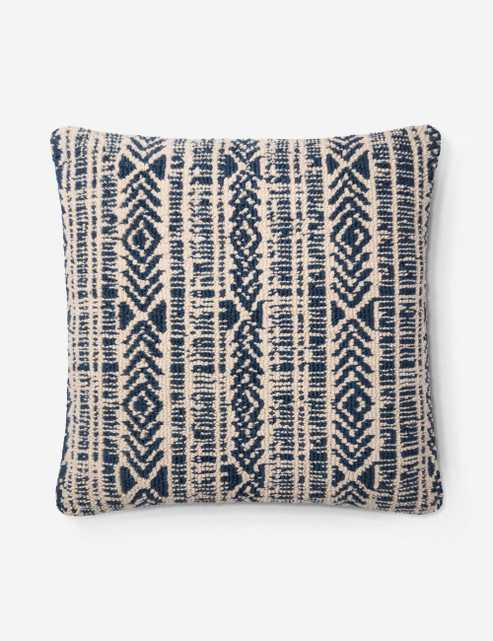 """Ione Pillow, Navy and Ivory 22"""" x 22"""" - Lulu and Georgia"""