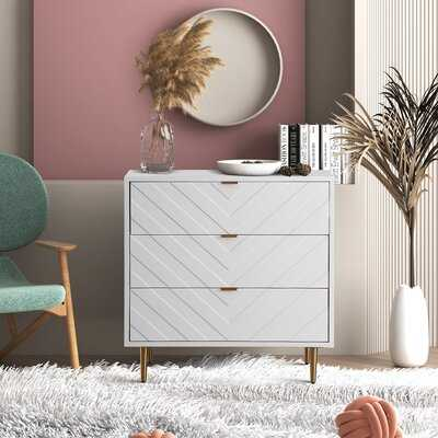 V-Shaped Pattern 3 Drawer Accent Chest - Wayfair