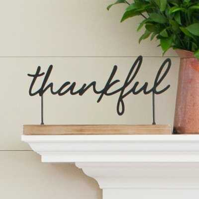 Thankful Tabletop Sign - Birch Lane