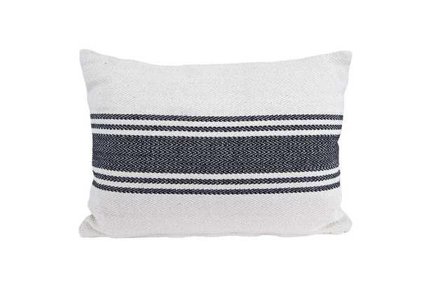 "Magnolia Pillow, 14"" x20"", Grey - Cove Goods"