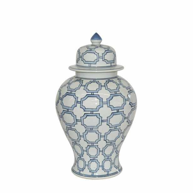 """Legend of Asia Blue/White 18"""" Indoor / Outdoor Porcelain Ginger Jar - Perigold"""