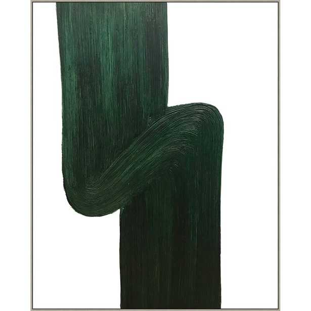 Providence Art 'Thom Filicia Home 'Green Swirl' - Floater Frame Painting Print on Paper - Perigold