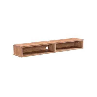 """Keiper Solid Wood Floating TV Stand for TVs up to 70"""" - AllModern"""